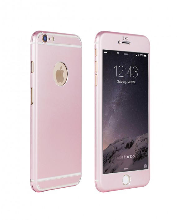 Vapiao Fullcover Alu Case Rundumschutz Fur IPhone 6 6s Plus Rose Gold