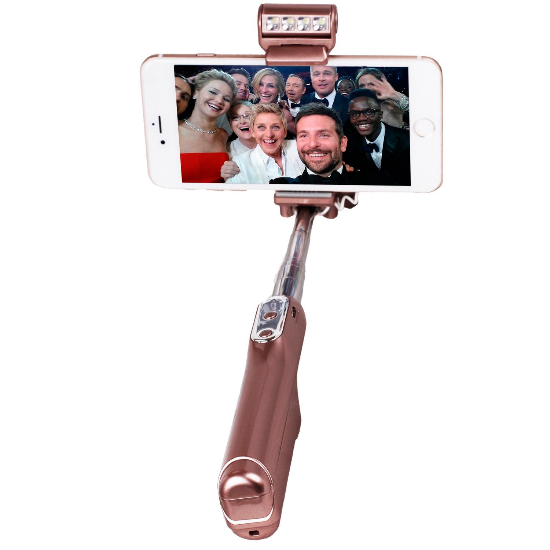 stylischer selfie stick f r alle apple iphone led light vapiao. Black Bedroom Furniture Sets. Home Design Ideas