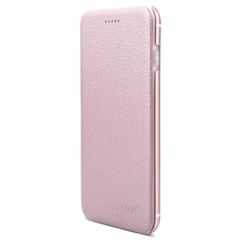 Klassische Binli IPhone 6 7 Und Plus Lederschutzhulle In Rose Gold