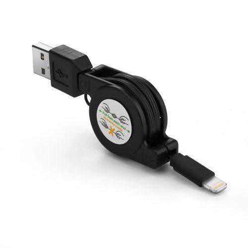 ausziehbares Ladekabel iOS9  schwarz