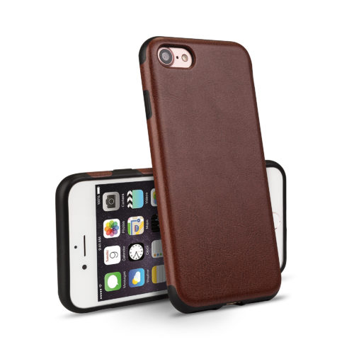 Apple iPhone Leder Back Hard Case