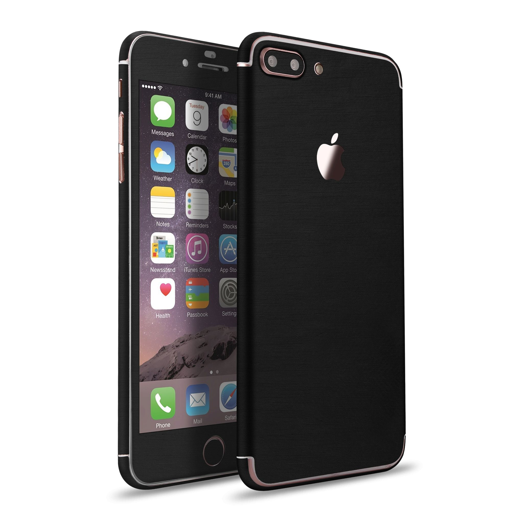 apple iphone 7 7 plus metallic skin sticker batman black vapiao. Black Bedroom Furniture Sets. Home Design Ideas